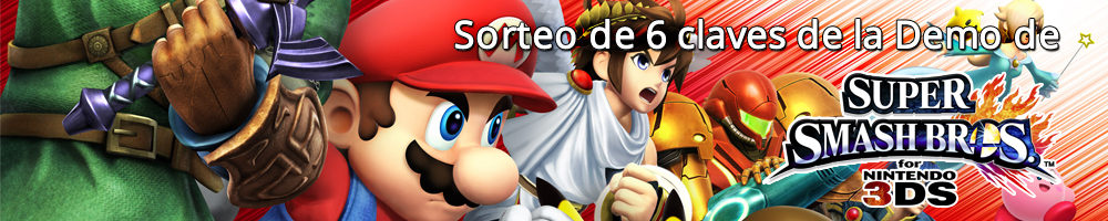 Sorteo de 6 claves de la Demo de Super Smash Bros. 3DS