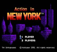 Action in New York Wii