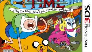 'Adventure Time: Hey Ice King! Why's you steal our garbage?!' se muestra en vídeo
