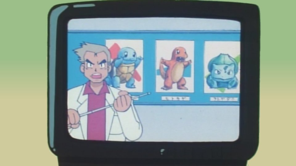 Bulbasaur, Charmander y Squirtle