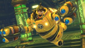 ARMS, para Nintendo Switch, nos muestra el traje alternativo de Mechanica y el guante Revolver