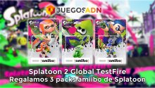 Celebramos la Splatoon 2 Global Testfire regalando 3 packs amiibo