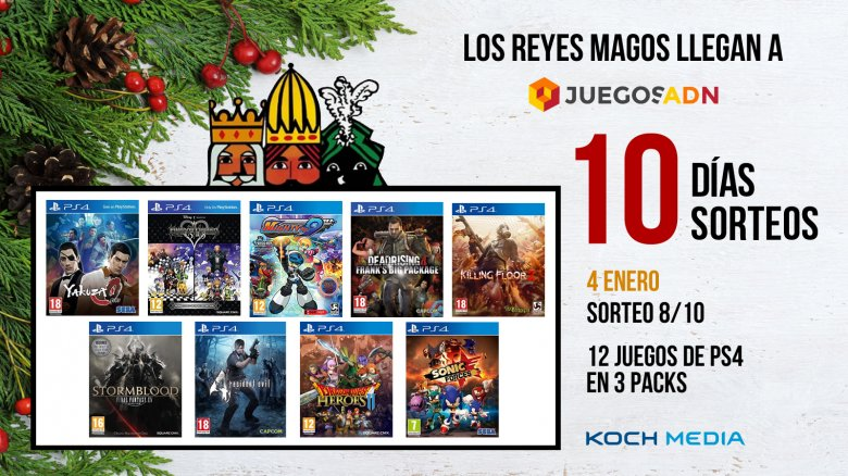 Sorteamos 3 packs de 4 juegos para PlayStation 4
