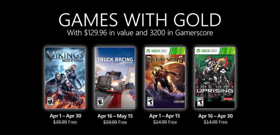 Xbox With Gold abril 2021