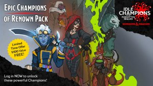 Epic Games Store: Idle Champions of the Forgotten Realms ya disponible, Pine próximamente