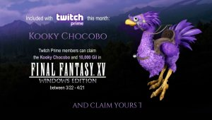 Final Fantasy XV Windows Edition: Consigue un chocobo especial con Twitch Prime