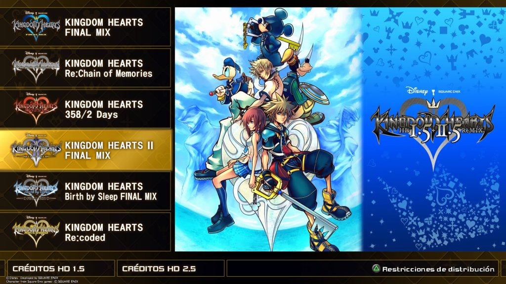 Kingdom Hearts HD I.5 + II.5 Remix