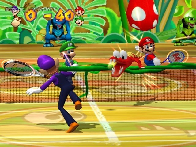 Mario Power Tennis Play on Wii
