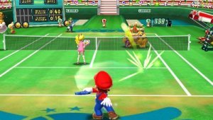 Probando el multijugador local en Mario Tennis Open