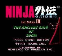 Ninja Gaiden III: The Ancient Ship of Doom Wii
