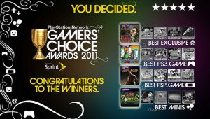 Ganadores del PlayStation Network Gamers' Choice Awards