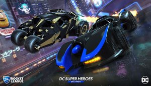 Rocket League recibirá dos versiones del batmóvil con el pack DC Super Heroes