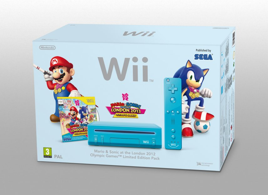 pack mario y sonic wii azul