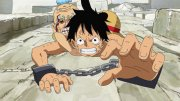 ¡Escalar! ¡El desesperado intento de Luffy por escapar!