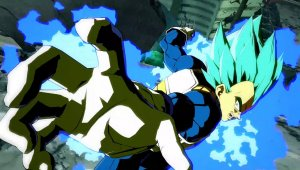 Dragon Ball FighterZ -  Vegeta Super Saiyan Azul entra en acción