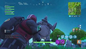 Fortnite rock monster outside of wailing woods gameplay
