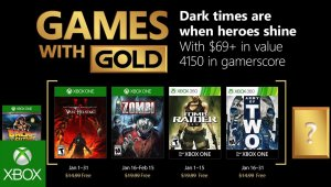 Games with Gold - Juegos del mes de enero 2018
