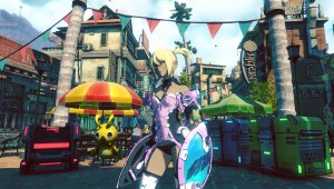 Gravity Rush 2 - Kat se viste con trajes de Phantasy Star