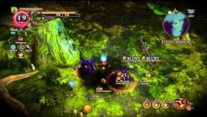 Los combates en The Witch and the Hundred Knight