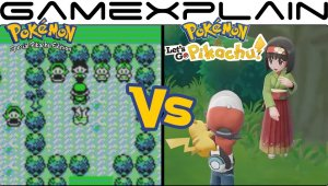 Pokémon Let's Go Pikachu Vs Pokémon Yellow - Celadon City Graphics Comparison (Switch vs Game Boy)