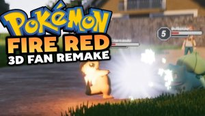 Remake fan Pokemon Fire Red 3D