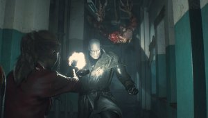 Resident Evil 2: Claire Gameplay - El Tyrant Sr. X