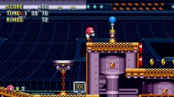 Sonic Mania - Knuckles se pasea por Flying Battery Zone
