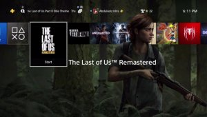 The Last of Us Part II nuevo tema dinámico para PSN