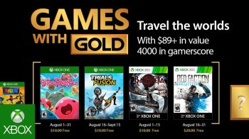 Xbox - Games with Gold de agosto 2017